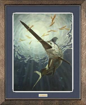 Don Ray Night Life - Swordfish Framed