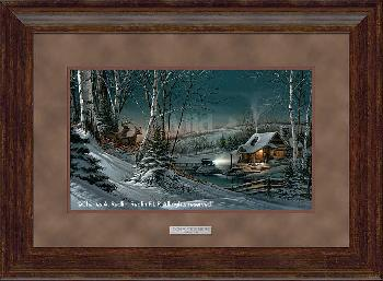 Terry Redlin Evening with Friends Framed Premium Elite Open Edition on Paper