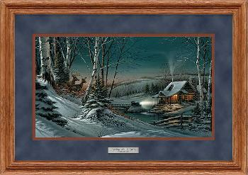 Terry Redlin Evening with Friends Framed Deluxe Oak Encore Edition