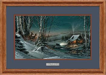 Terry Redlin Evening with Friends Framed Oak Encore Edition