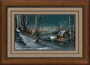 Terry Redlin Evening with Friends Framed Executive Elite Open Edition on Paper