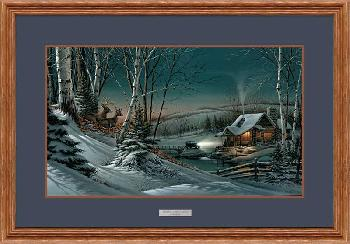Terry Redlin Evening with Friends Framed Oak Elite Open Edition on Paper