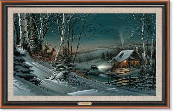Terry Redlin Evening with Friends Framed Legacy Canvas