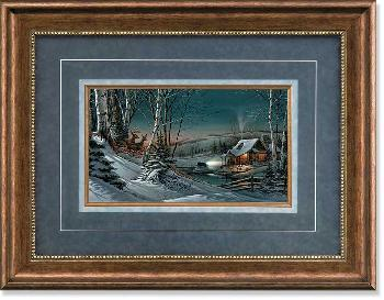 Terry Redlin Evening with Friends Framed Deluxe Encore Edition