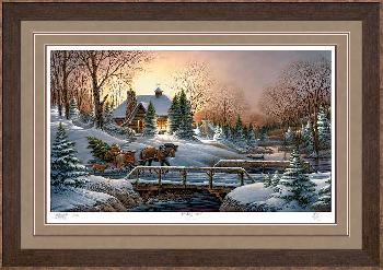 Terry Redlin Heading Home Framed Deluxe Remarqued