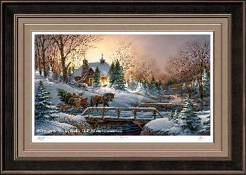 Terry Redlin Heading Home Framed Premium Remarqued