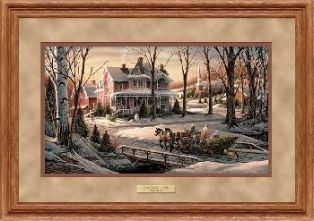 Terry Redlin Homeward Bound Framed Deluxe Oak Encore Edition