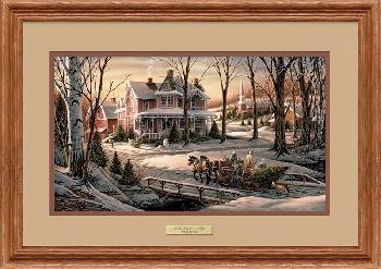 Terry Redlin Homeward Bound Framed Oak Encore Edition