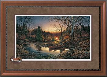 Terry Redlin Morning Solitude Encore Cameo Framed Open Edition