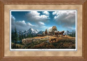 Terry Redlin O Beautiful for Spacious Skies Framed Oak