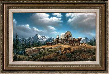 Terry Redlin O Beautiful for Spacious Skies Framed Open Edition on Canvas