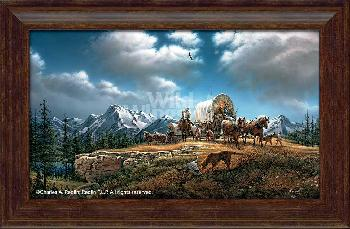 Terry Redlin O Beautiful for Spacious Skies Framed Premium Open Edition on Canvas
