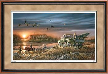 Terry Redlin Patiently Waiting Framed