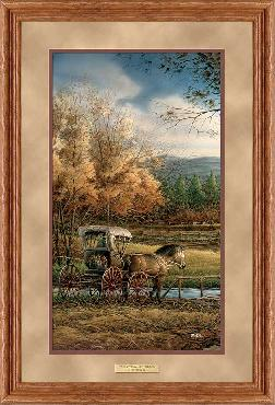 Terry Redlin Wednesday Afternoon Framed Deluxe Oak Pinnacle Open Edition