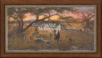 Michael Sieve Nyumba Ya Simba; Home of the Lion Framed Premier Canvas Print