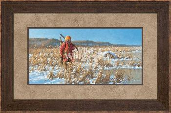 Michael Sieve River Rat - Fur Trapper Framed Signed Print Open Edition