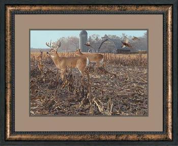 Scot Storm Back Forty - Deer Framed Open Edition