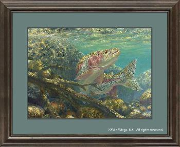 Mark Susinno At the Last Second - Rainbow Trout Framed