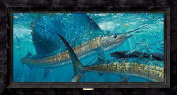 Mark Susinno Batting Cleanup - Sailfish Framed Giclee on Canvas