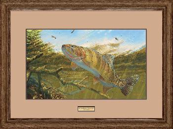 Mark Susinno Matching the Hatch - Cutthroat Trout Framed Remarqued