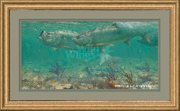 Mark Susinno Parade - Tarpon Framed Remarqued