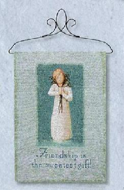 Willow Tree Friendship Tapestry Bannerette