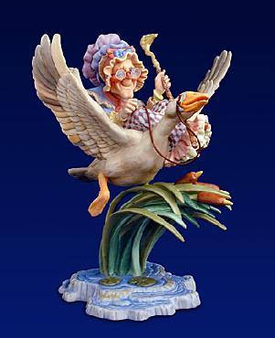 James Christensen Mother Goose Fine Art Porcelain Figurine