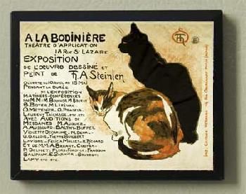 Theophile Alexandre Steinlen Steinlen Cats Magnetic Art