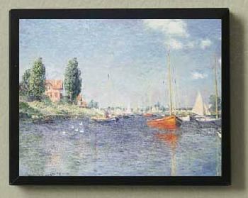 Claude Monet Red Boats Magnetic Art