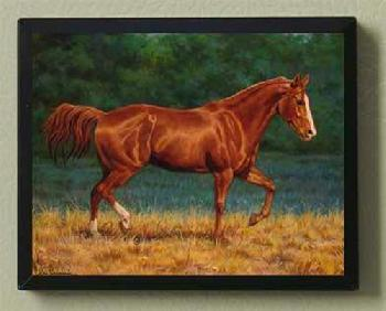 Chris Cummings Quarter Horse Magnetic Art