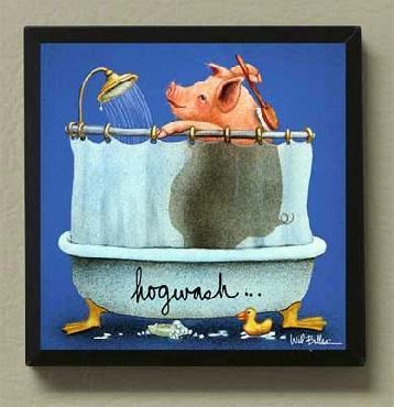 Will Bullas Hog Wash Magnetic Art