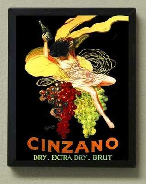 Leonetto Cappiello Cinzano Grapes Magnetic Art