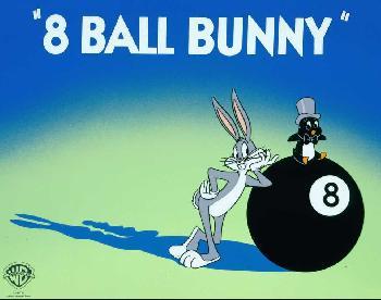 Warner Brothers Eight Ball Bunny Sericel