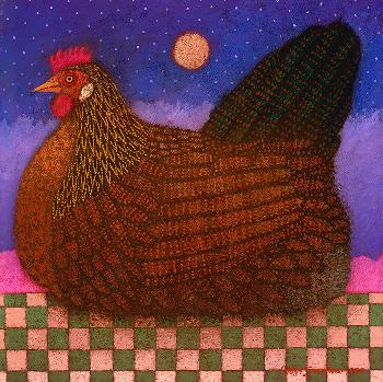 John Simpkins Americana Hen Open Edition Giclee on Canvas