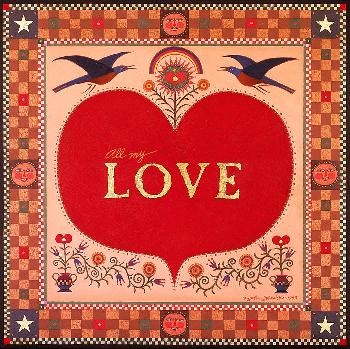 John Simpkins All My Love Open Edition Giclee on Canvas