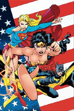 Jim Lee Heroines of the DC Universe Giclee on Canvas