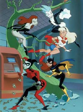 Bruce Timm Girls Finest Hand Painted Cel