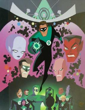 Warner Brothers In Brightest Day Hand Painted Cel