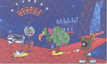 Warner Brothers Hare Way to the Stars Hand-Painted Cel