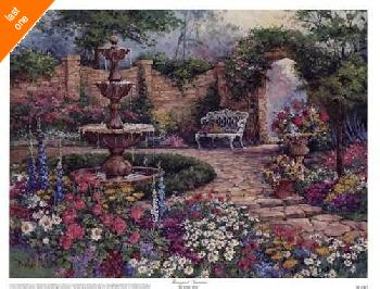 Barbara Mock Tranquil Garden   LAST ONES IN INVENTORY!!
