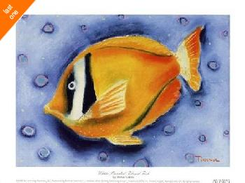 Dona Turner White Banded Island Fish   LAST ONES IN INVENTORY!!