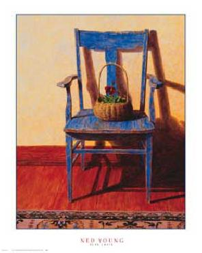 Ned Young Blue Chair
