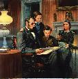 Kunstler Abraham Lincoln, Family Man Giclee on Canvas