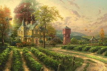 Thomas Kinkade Abundant Harvest SN Canvas