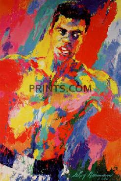 LeRoy Neiman Muhammad Ali - Athlete of Century Open Edition with White Borders 16x24