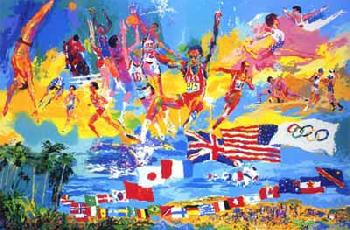 LeRoy Neiman American Gold 1984 Hand Pulled Serigraph