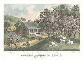 Currier and Ives American Homestead Spring