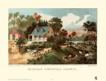Currier and Ives American Homestead Summer