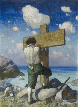 Newell Convers Wyeth And making it into a great cross Open Edition Giclee on Paper