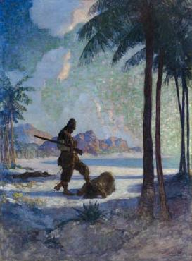 Newell Convers Wyeth And then he kneeled down again, kissed the ground Open Edition Giclee on Paper